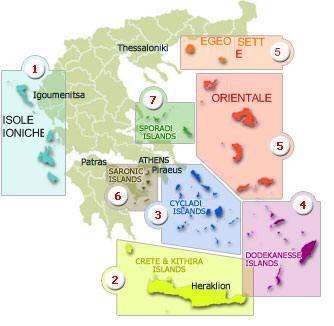 Cartina Della Grecia E Isole In Italiano.Isole Della Grecia Isole Greche Isole Grecia