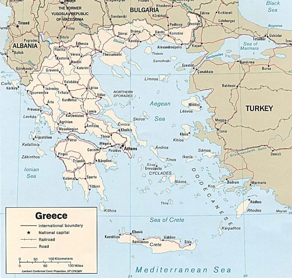 Cartina Della Grecia Politica.Mappa Della Grecia Cartina Della Grecia
